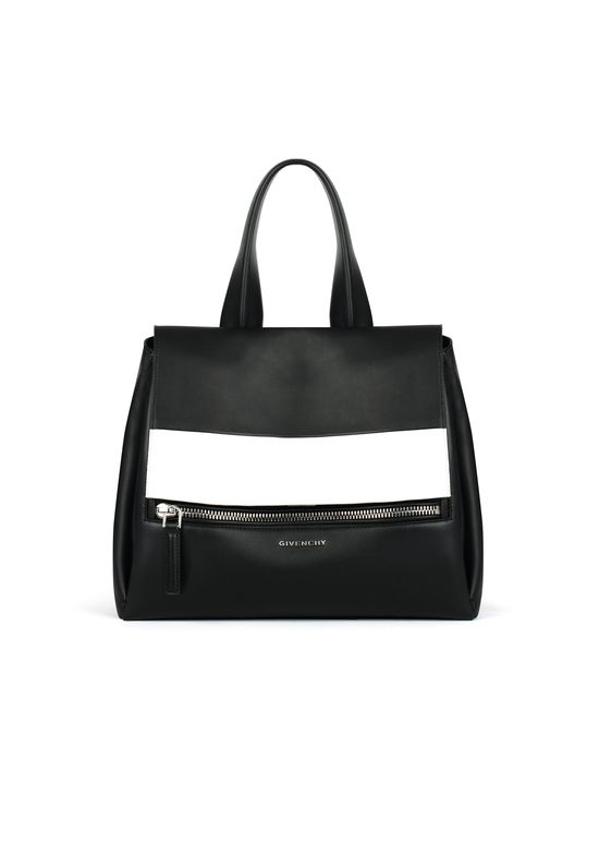 18c6a16a487b Givenchy - Small Pandora Pure Bag in Smooth Black Leather with Contrasted  Band