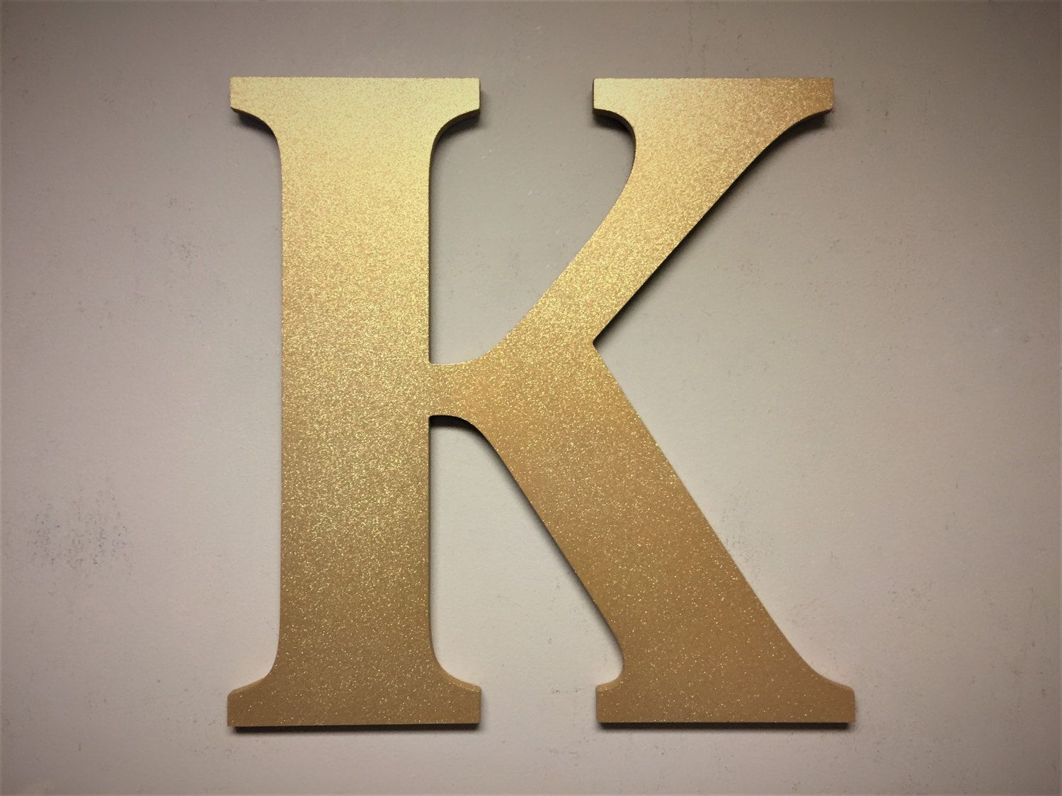 Gold Sparkel Letter K Large Free Standing Monogram Home Decor Wall Hanging Nursery Wedding Bridal Shower Idea By Howdyowl On Etsy