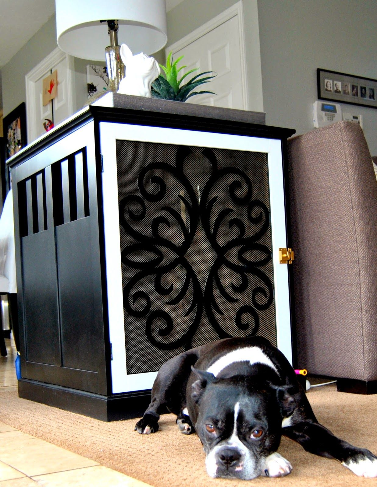 Diy dog crate end table dog crate end table dog crate