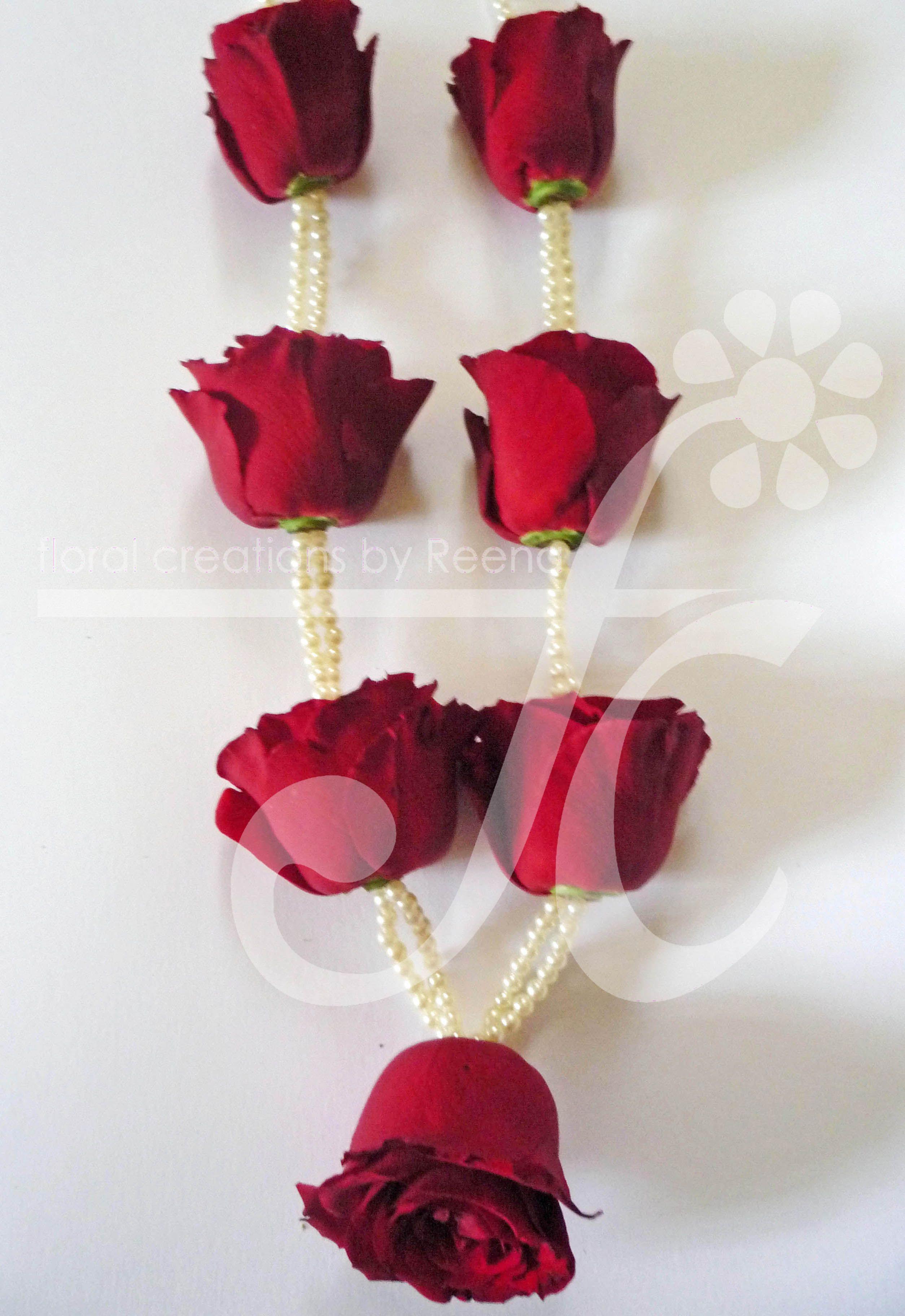 Freedom Rose And Pearls Flower Jewelry Neckless Indian Wedding Garland Garland Wedding Decor Garland Wedding