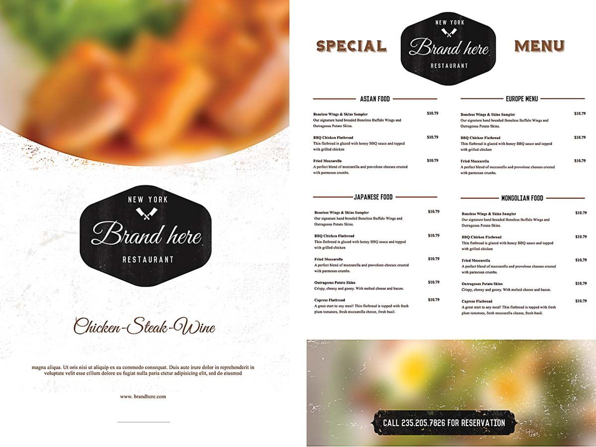 Food menu template for restaurant free vectorscards and free restaurant menu template word publisher college graduate sample resume examples of a good essay introduction dental hygiene cover letter samples lawyer saigontimesfo
