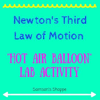 Newton S Third Law Of Motion Activity Newtons Third Law Lab Activities Motion Activities