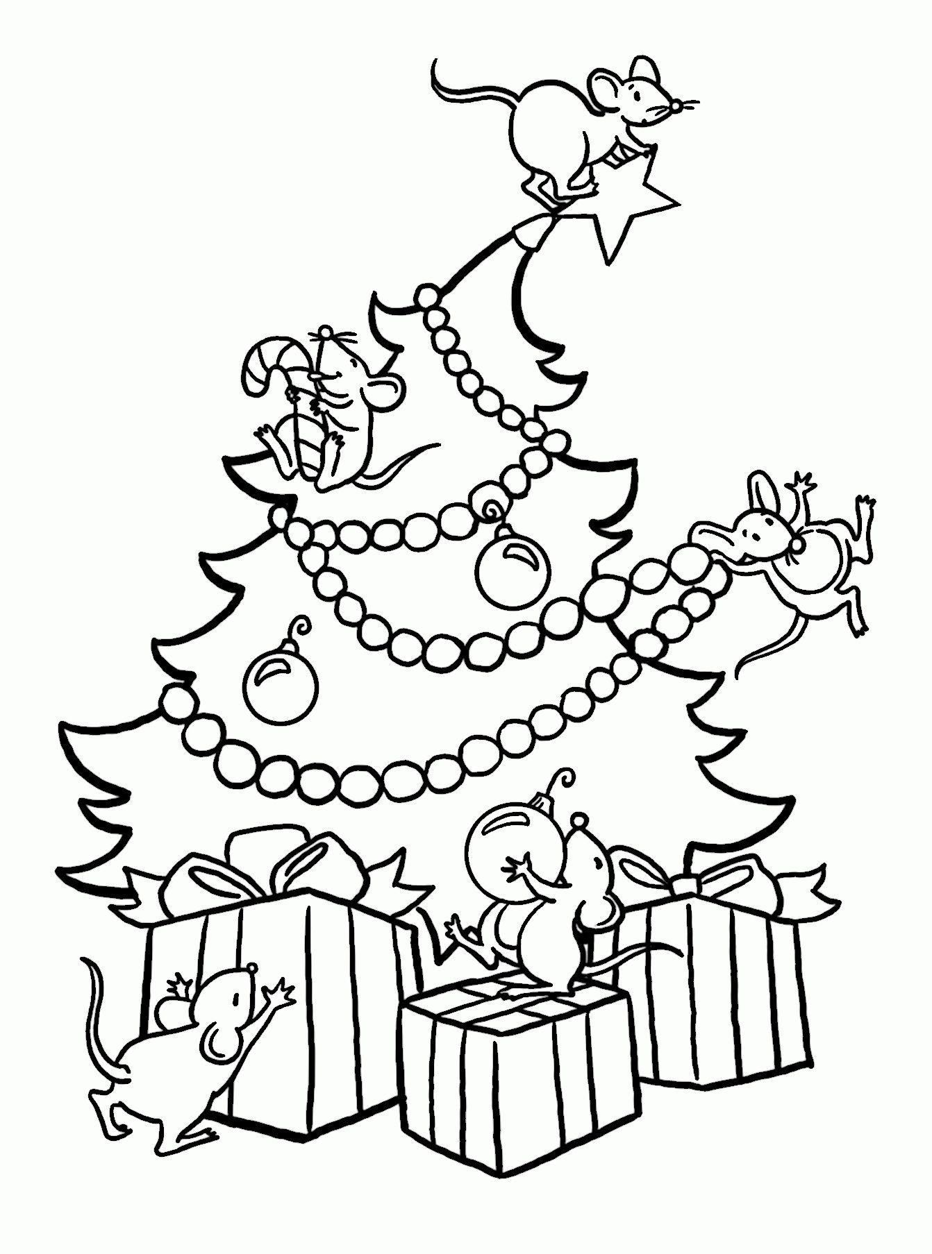dibujo arbol navidad para colorear navidad tarjetas Pinterest
