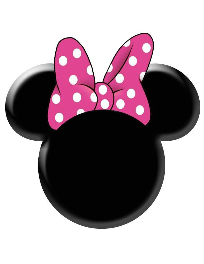 photograph about Minnie Mouse Printable titled Red Minnie Mouse Bow Template Minnie Mouse Stencil