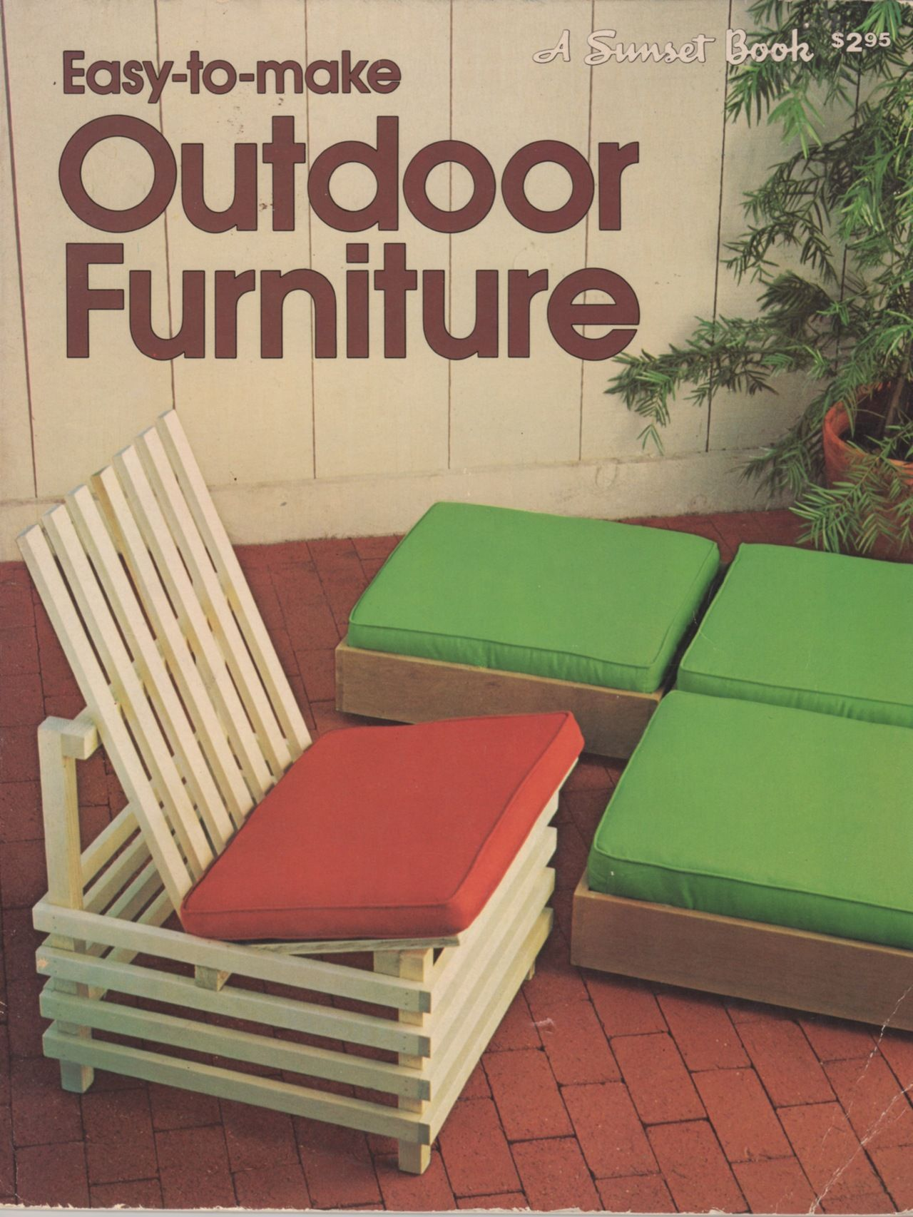 easy to make outdoor furniture a sunset book lane 1979 - Easy Garden Furniture To Make
