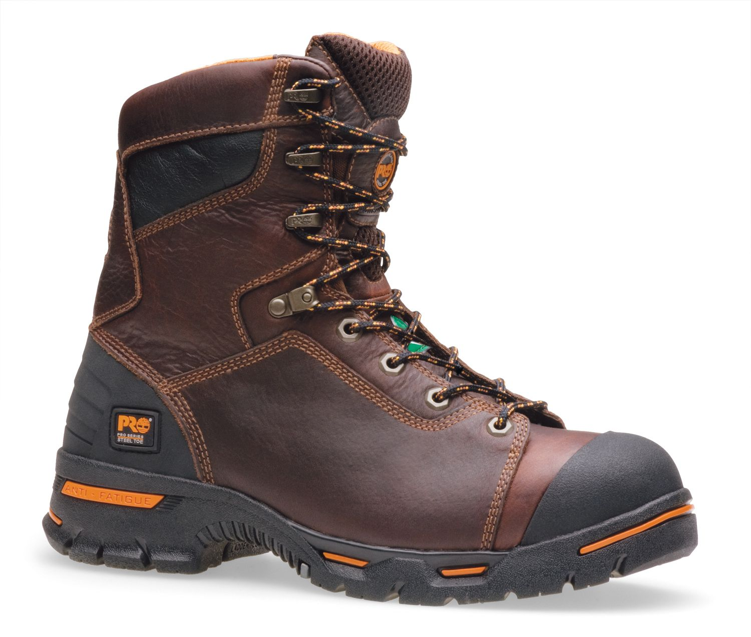 When you want top-of-the-line quality, comfort and protection on or off the  job, put your feet in the Men's Timberland Pro Endurance Steel Toe Leather  Work ...