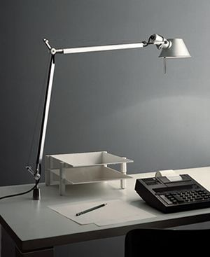 Artemide Tolomeo Mini Table Or Desk Lamp With In Set Pivot Mount If Desk Space Is At A Premium Some Desk Lamps Mount T Classic Table Lamp Desk Lamp Table Lamp