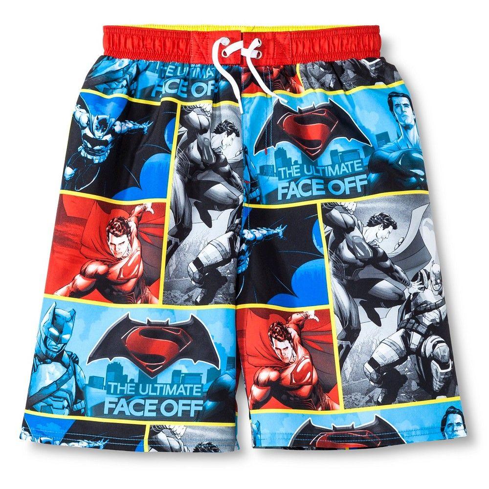 5a9209096f Boys' Batman Vs Superman Swim Trunk - Multicolored M, Boy's, Multi-Colored