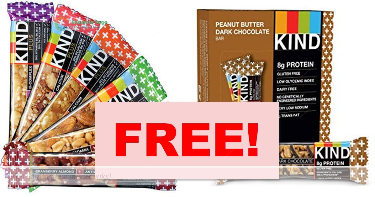 Totally FREE FULL SIZE Kind Bar ! FREE Food Sample! Free