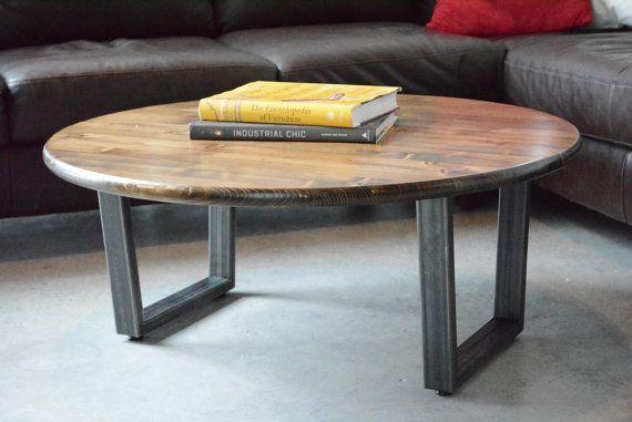 30 Round Coffee Table Steel Legs Industrail Table Coffee Table