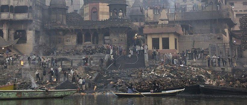 Varanasi Auch Als Benares Bzw Kashi Bezeichnet Ist Eine