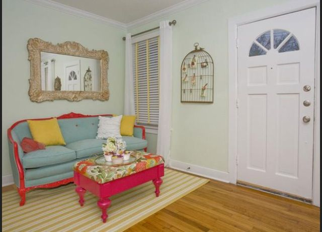 As seen on Property Brothers red and turquoise room