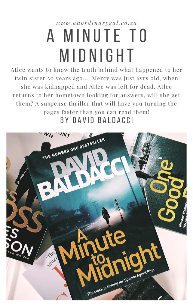 A Minute To Midnight By David Baldacci Book Review An Ordinary Gal David Baldacci Books Book Review Books