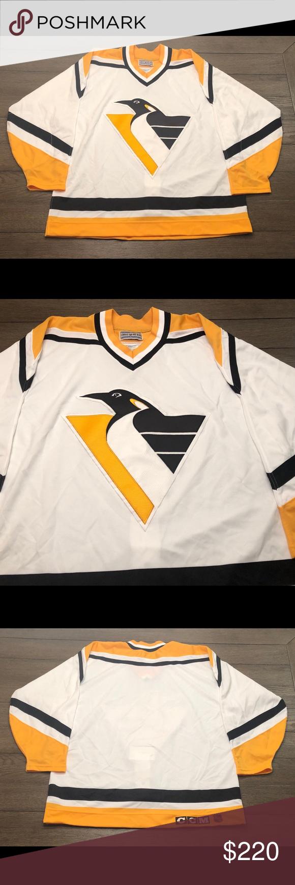 best website c7553 1d420 Vintage CCM Authentic Pittsburgh Penguins Jersey Vintage 90s ...