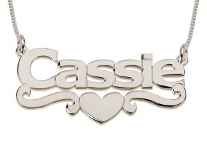 An Additional Beautiful Name Necklace With Block Letters Font