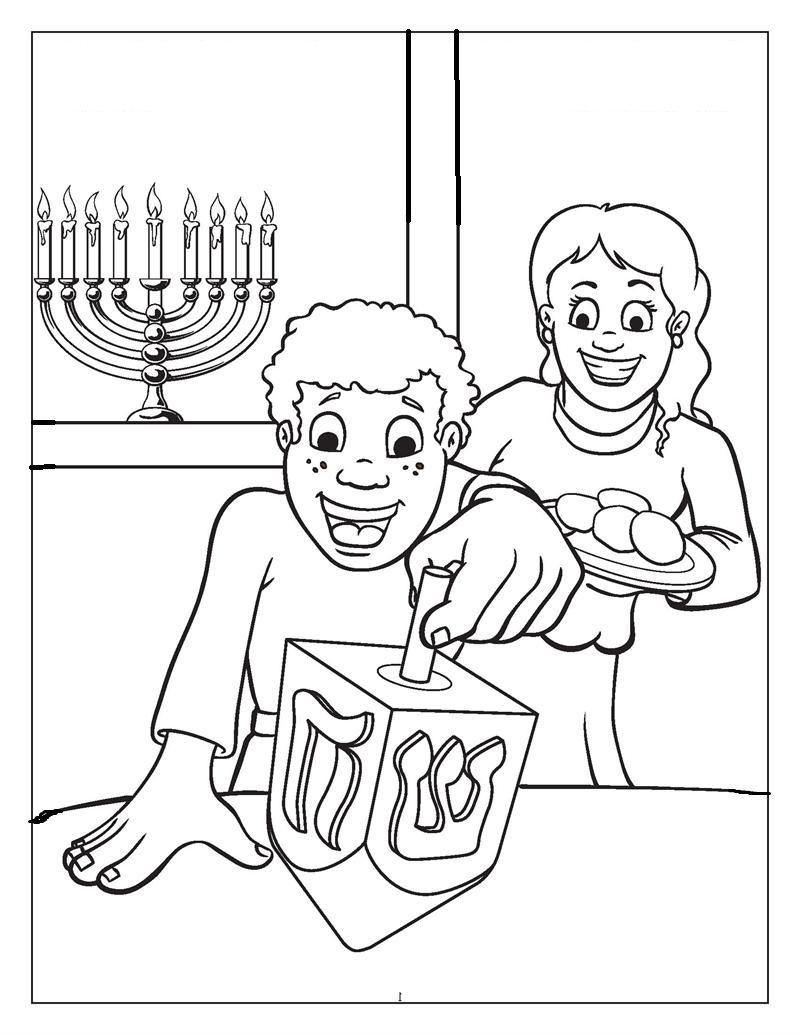 Happy Playing Dreidel Hanukkah Coloring Pages For Kids Bei Printable Hanukkah Coloring Pages For Kids Coloring Books Hanukkah Activites Hanukkah [ 1035 x 800 Pixel ]