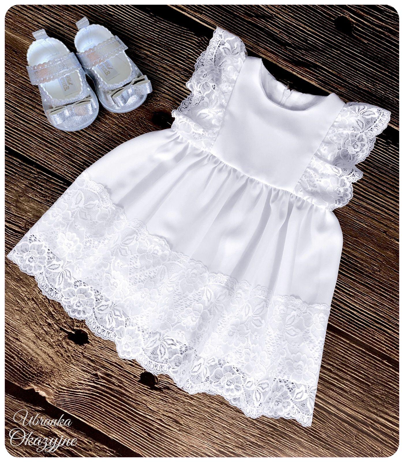 Sukienka do chrztu biała Sklep Ubranka Okazyjne