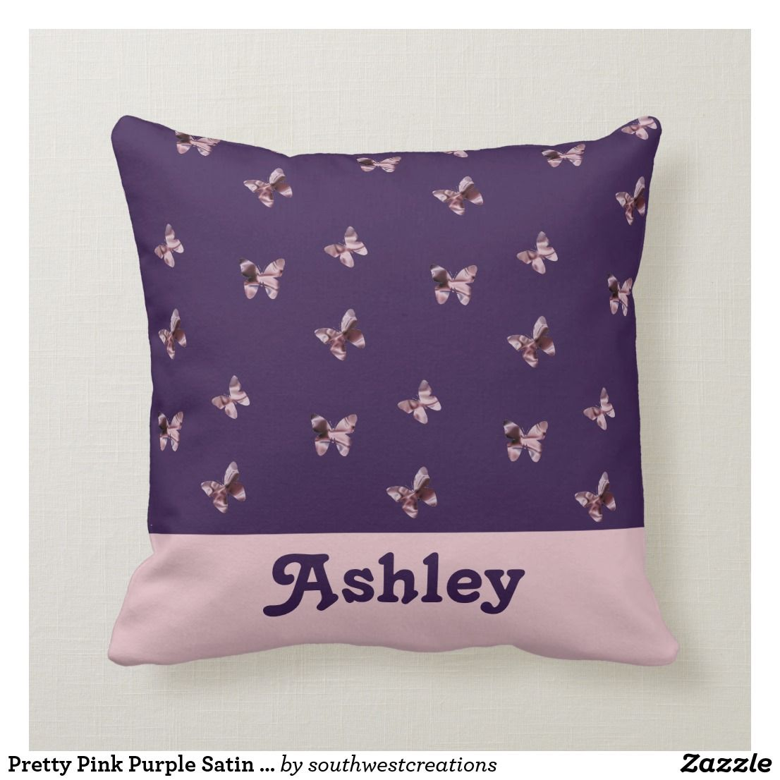 NEW Floral Butterflies Satin Fleece Childrens Blanket//Pillow Case Baby Gift