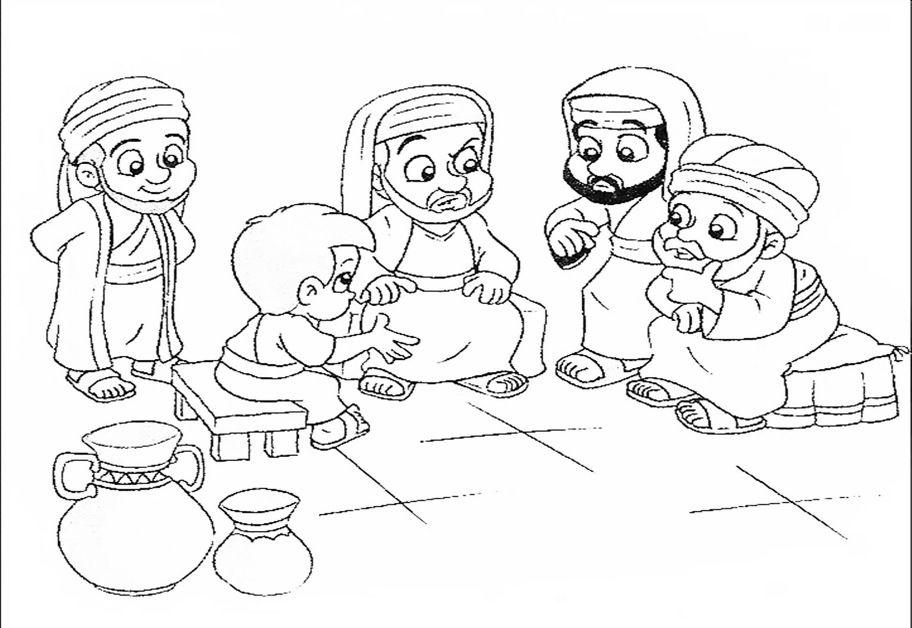 jesus at the temple coloring sheets