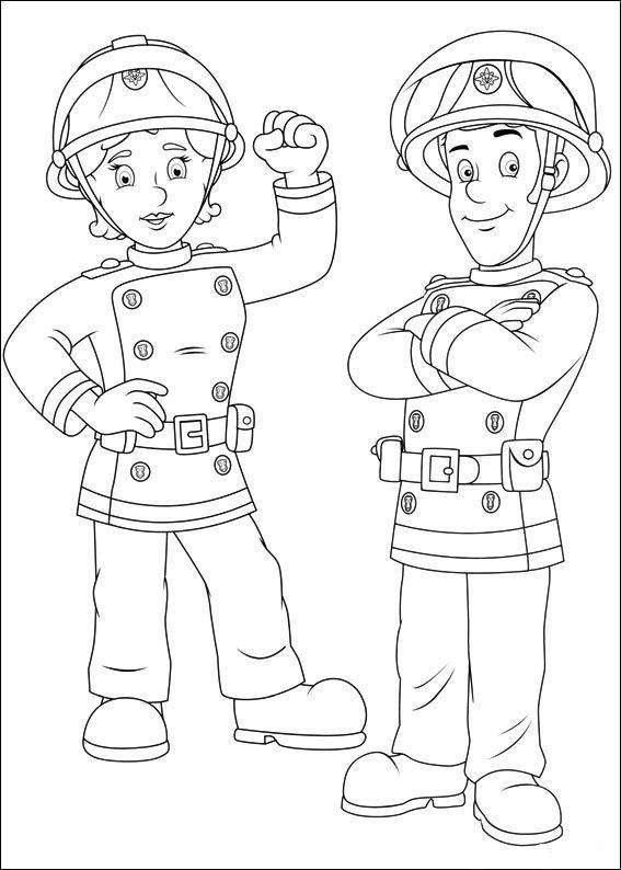 Kleurplaten Sam De Brandweerman.Brandweerman Sam Kleurplaten Voor Kinderen Kleurplaat En Afdrukken