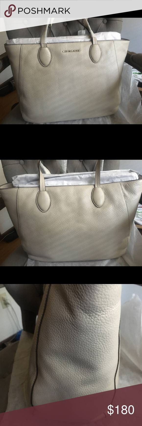 660b166d2ce1 NWT Michael Kors Ani Large Gary Leather Tote New with tags!! I SHIP NEXT  DAY!!! Perfect for fall!!!! Dimensions: 15