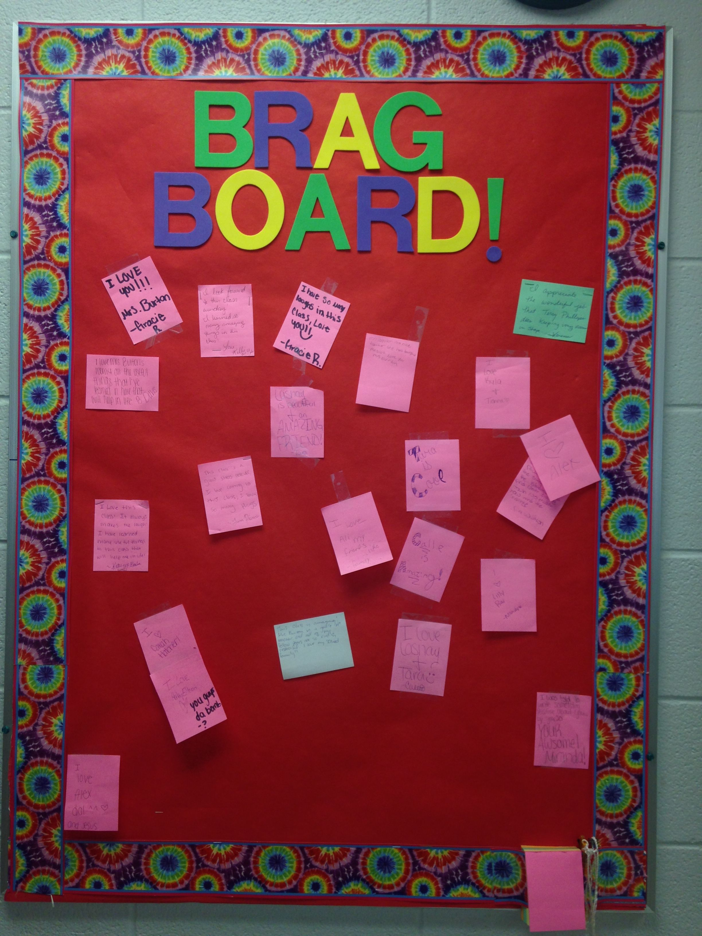 Brag Board In The Family And Consumer Science Department