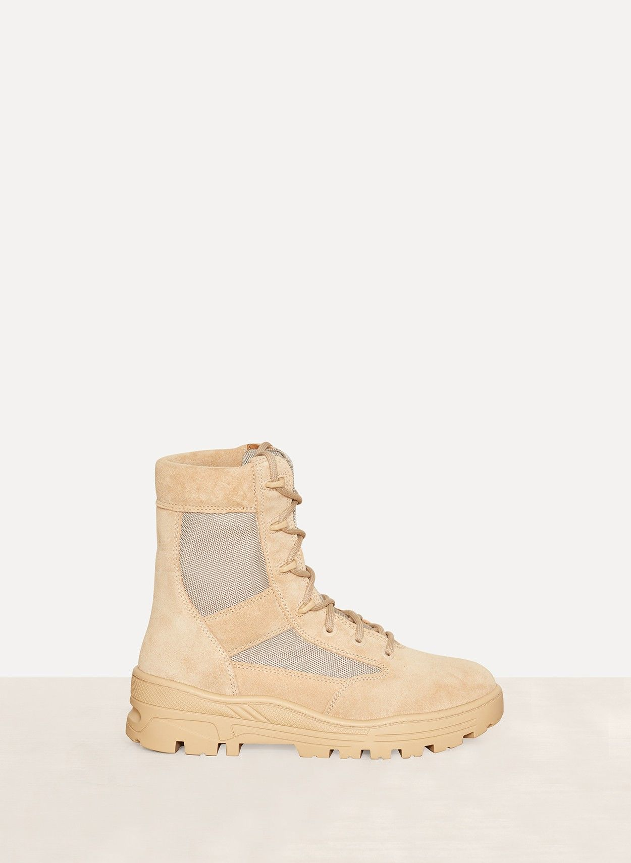 eaa99fca261e4 Crosta Light Sand Calfskin Suede Military Boot from YEEZY Season 4 ...