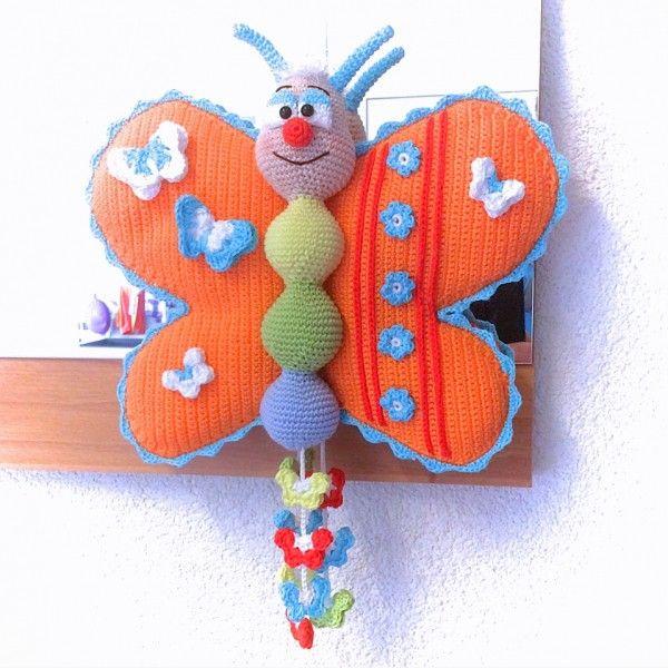 Schmetterling häkeln - DIY-Deko + gute Laune