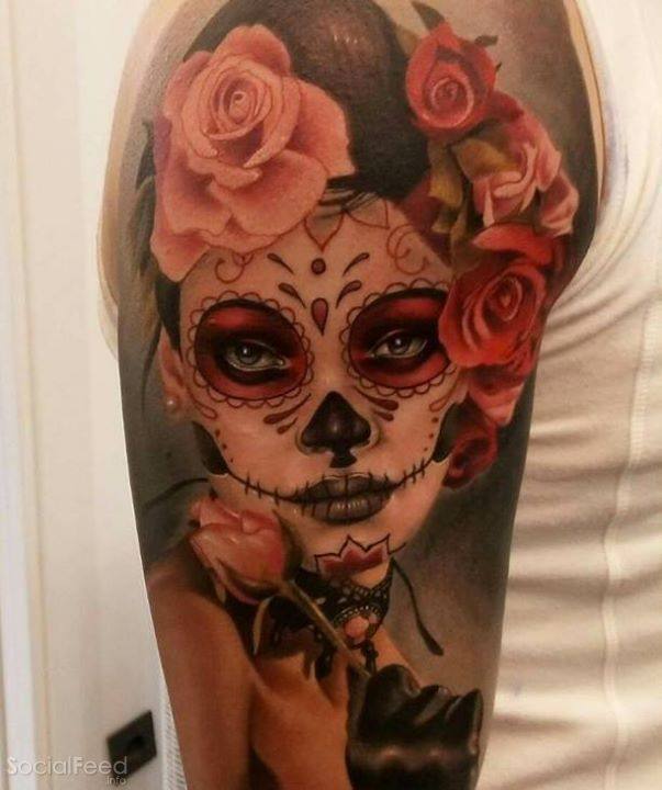 catrina tattoo by aitor jimenez home decor that i love pinterest tattoo tatto and tatoos. Black Bedroom Furniture Sets. Home Design Ideas