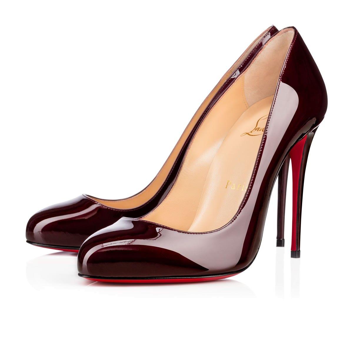 CHRISTIAN LOUBOUTIN Dorissima Metal Patent 100 Orthodoxe Patent Calfskin -  Women Shoes - Christian Louboutin.