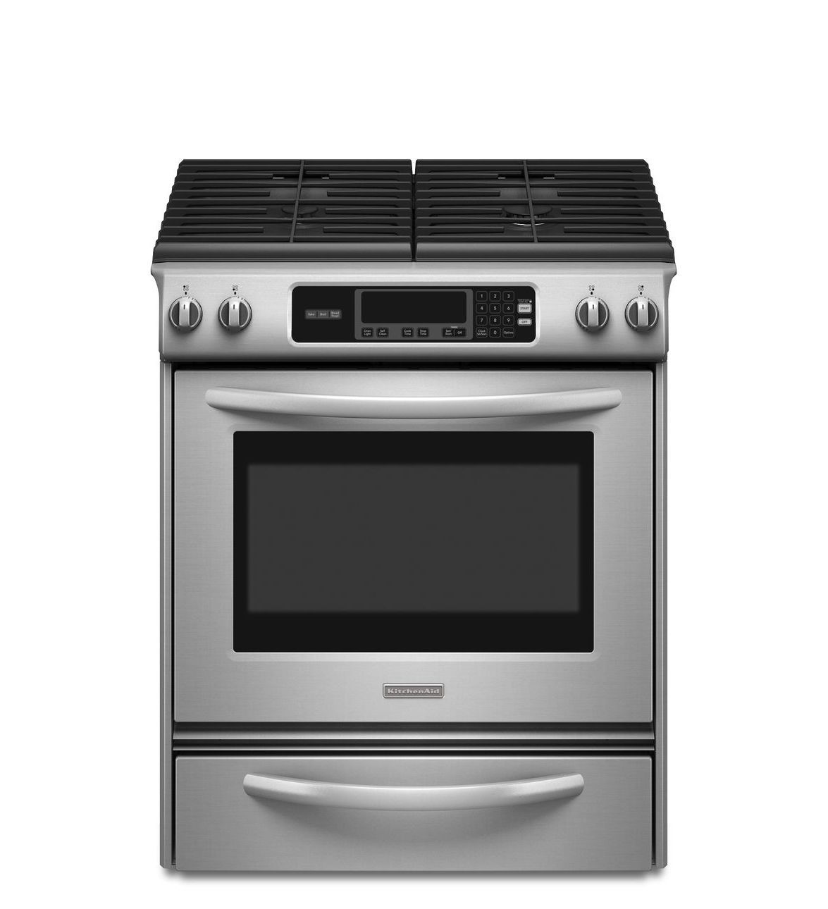 Kitchenaid 30 Inch 4 Burner Gas Slide In Range Architect Series Ii Kgsk901sss Stainless Steel