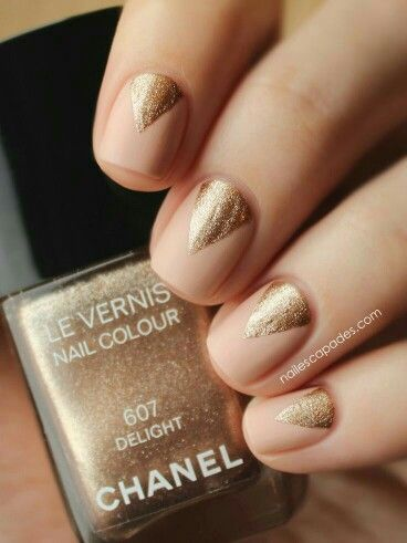 Nude Gold Nails Pinterest Nude Gold And Nude Nails