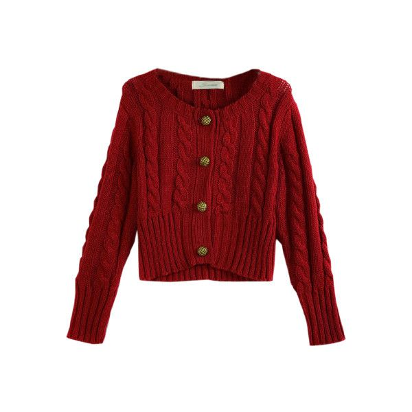 Retro Style Cross Line Red Cardigan( Halloween sale on Oct.26th ...