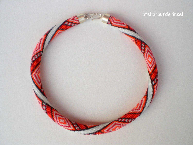 """Beautiful bead crochet rope """"Apanachi""""."""