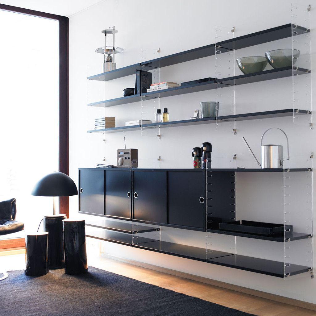 HAUS - String Plex shelving system by Nils Strinning