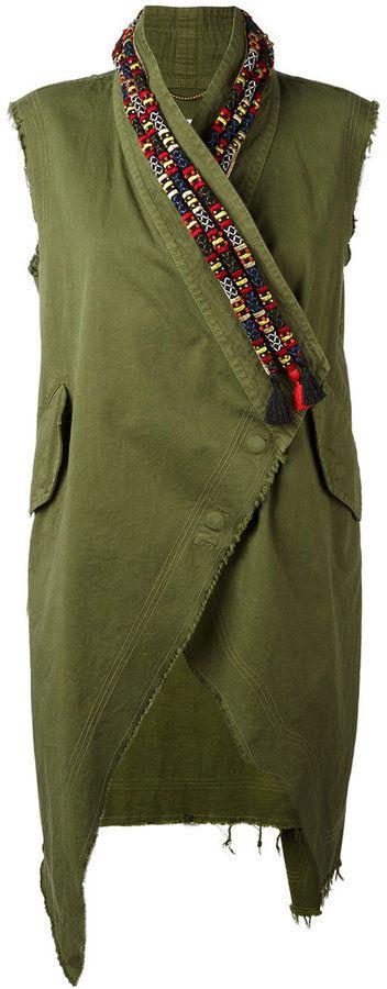 Bazar Deluxe - veste brodée sans manches