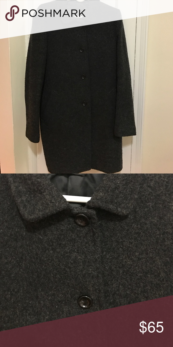 Cashmere Coat Dark grey winter coat Uniqlo Jackets & Coats