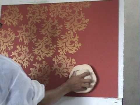 Mekong Paint Tools Cong Cụ In Van Hoa Youtube Diy Wall Painting Wall Texture Design Wall Paint Designs