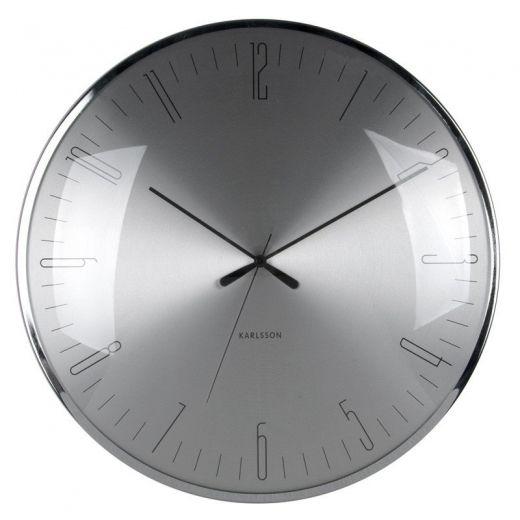 Karlsson Dragonfly Dome Glass Wall Clock - Aluminium Karlsson
