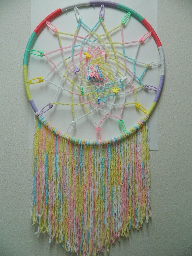 Hula Hoop Baby Themed Dream Catcher (Item Sold) 2 foot