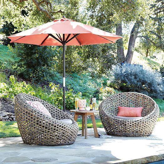 montauk outdoor nest chair antique