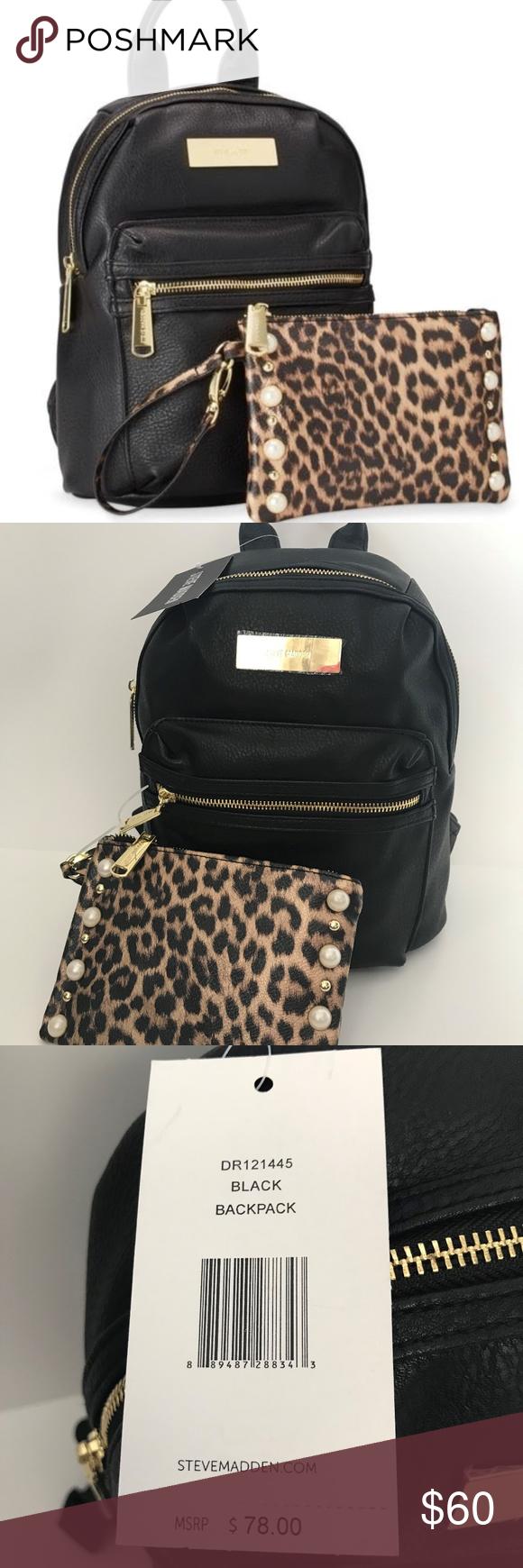 70ec2f9d398c2 Steve Madden Black BKris Mini Backpack and Bag Steve Madden BKris Mini  Fashion Backpack w