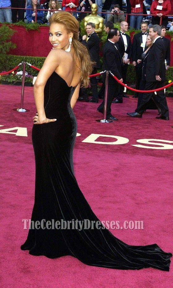 Beyonce Knowles Black Formal Dress Oscar 2005 Red Carpet Oscars