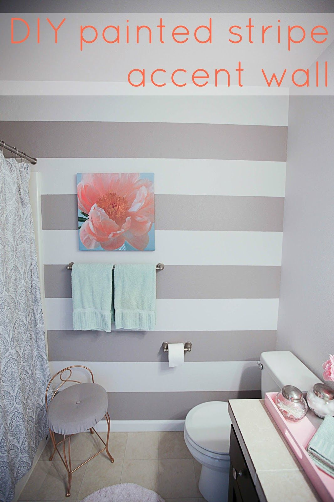 Painting Stripes On Bathroom Walls - 3d House Drawing •