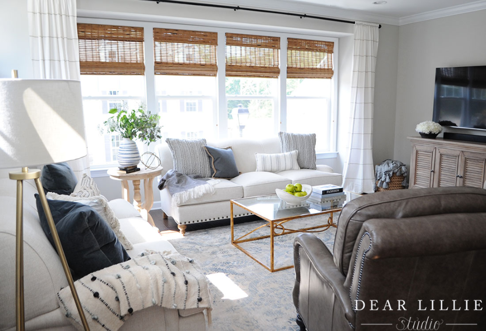 A Light and Bright Townhome – Living Room Area and Powder Room - Dear Lillie Studio