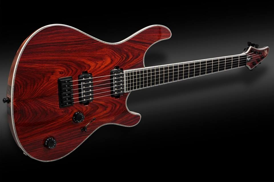 """"""" Mayones Regius 6 Exotic Master Builder Collection Cocobolo top, Mahogany body wings, 11-ply ntb Exotic neck section, Ebony fretboard, Seymour Duncan TB-4 JB (bridge) and SH-2 Jazz pickups, ABM bridge, Hipshot Products Inc Grip Lock tuners, Graph Tech Guitar Labs Black Tusq nut, Black hardware. """""""