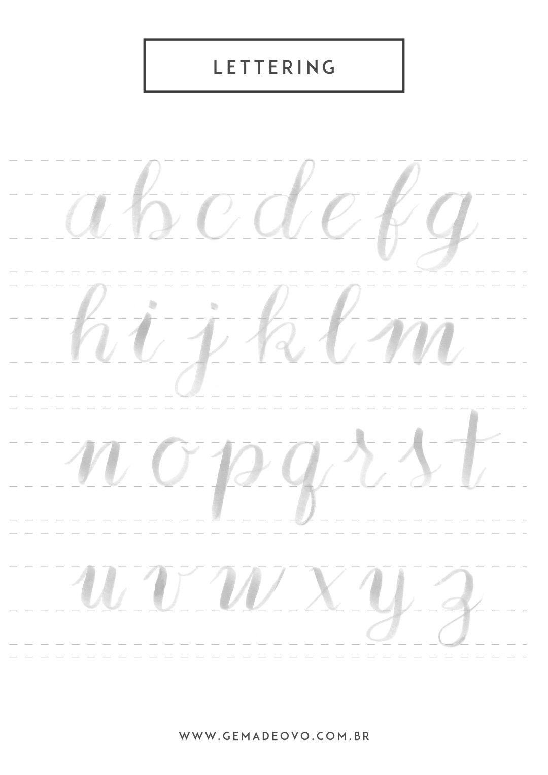 Exercicio De Lettering