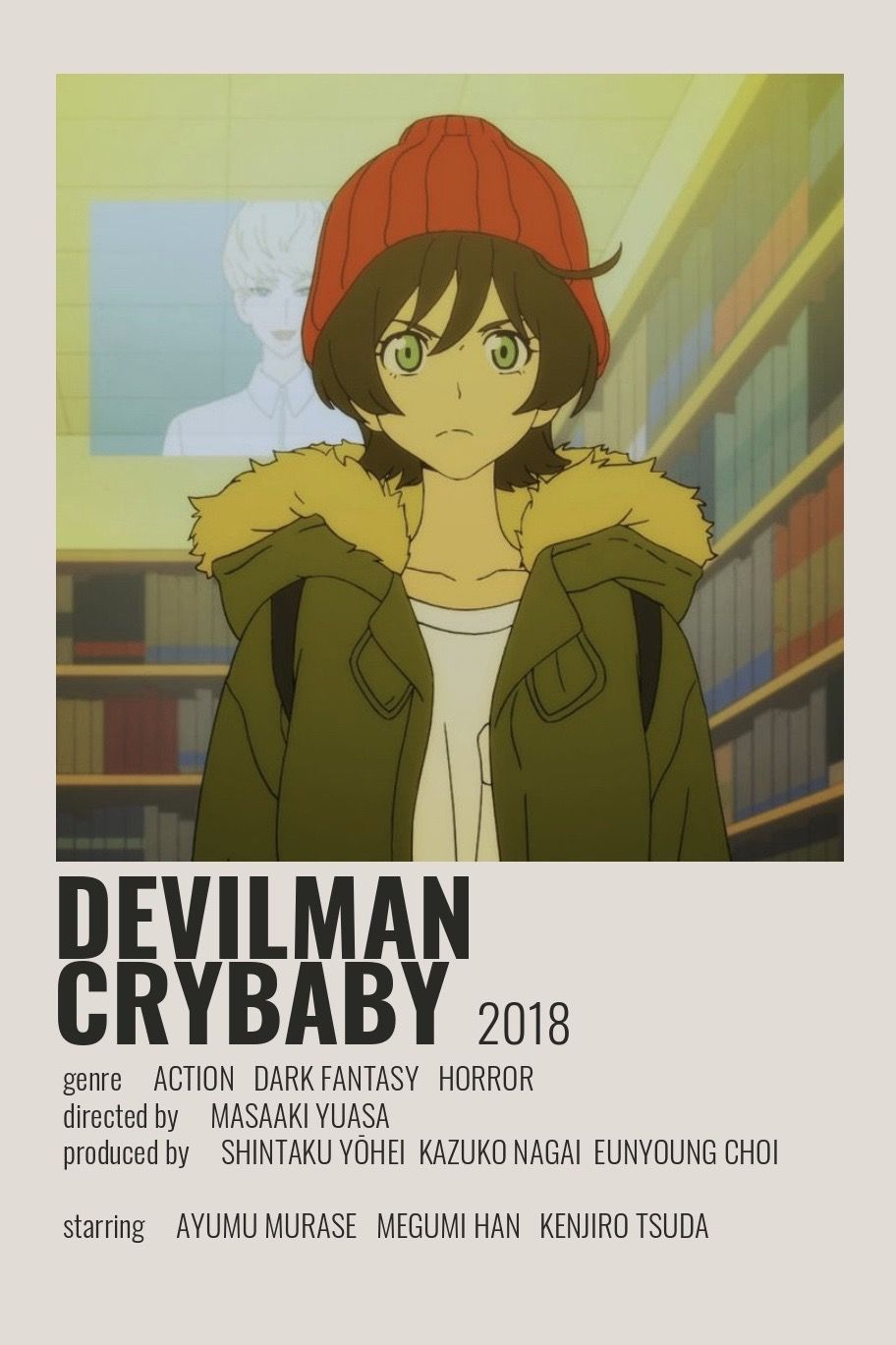 devilman crybaby poster by cindy film