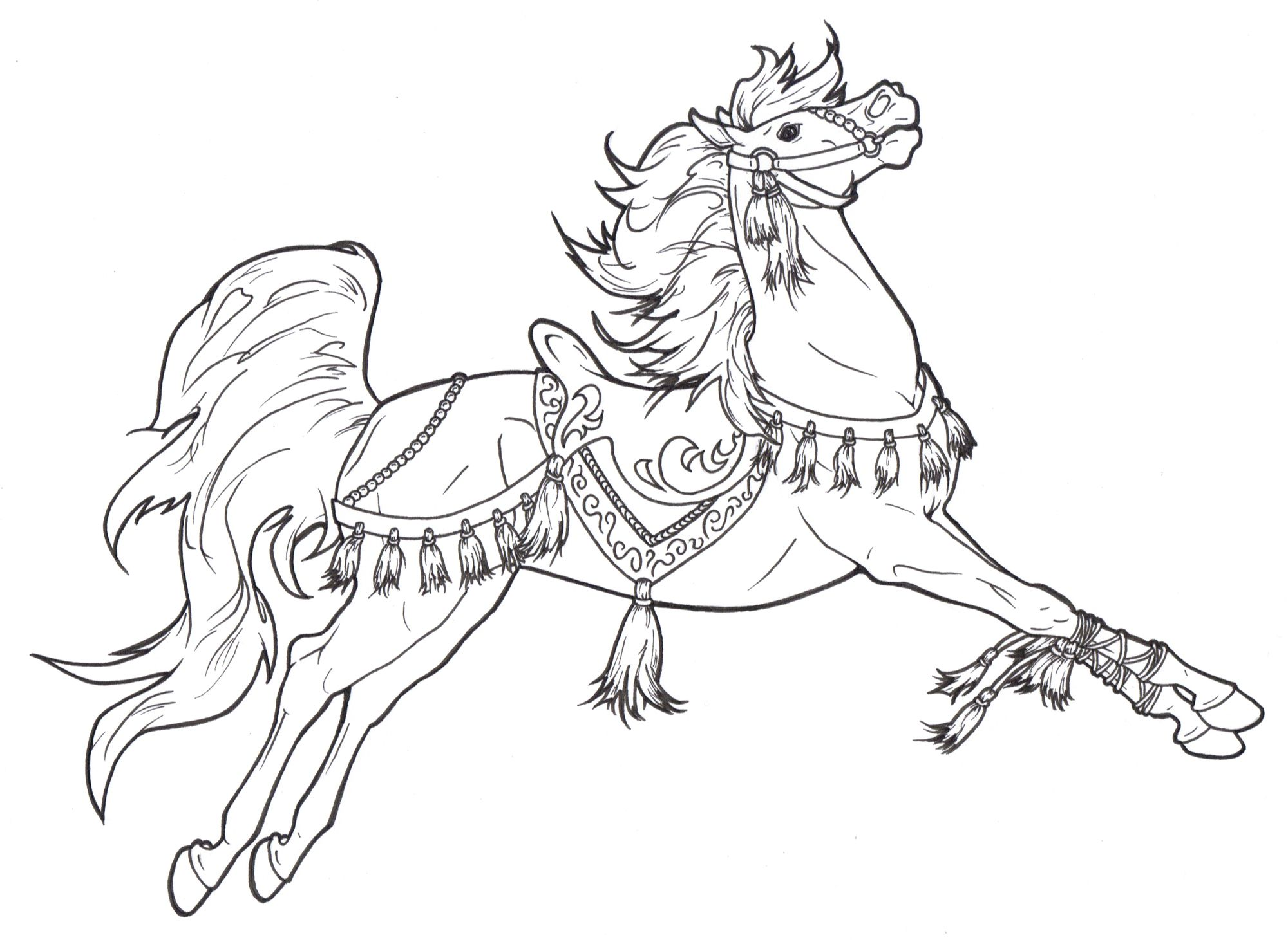 Carousel Horse With Tassels Makes Me Think Of A Heraldic Costume