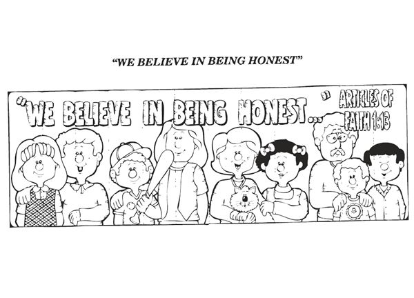 We Believe In Being Honest Coloring Page With Images Coloring